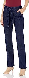 NYDJ 女式 Marilyn 直筒牛仔裤,带裤子细节