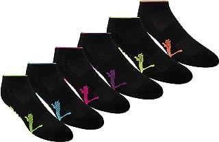 PUMA Women's 6 Pack Runner Socks, Multi-color, 9-11