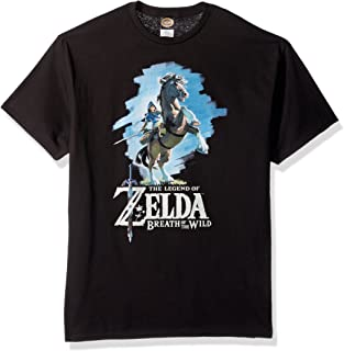 Nintendo 任天堂 塞尔达荒野之息 Link Epona 图案 男士T-Shirt