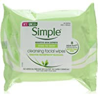 Simple 面部皮肤清洁湿巾,可去除杂质和彩妆,25片(6 x 25包)