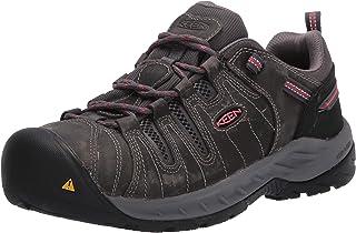 KEEN Utility 女式 Flint Ii 低钢头防滑工作鞋构造靴