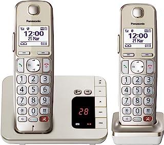 Panasonic KX-TGE262GN Schnurlostelefon mit Anrufbeantworter (Bis zu 1.000 Telefonnummern sperren, übersichtliche Schriftgr...