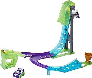 Playskool Heroes 变形金刚救援机器人翻转赛车手Blurr 反向赛车道
