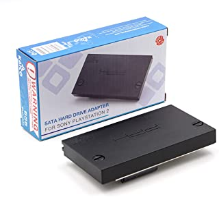 Kaico Playstation 2 PS2 SATA HDD 硬盘驱动器适配器适用于 Playstation 扩展湾端口。与 McBoot FMHD、OPL、GSM.SMS、HD 装载机一起使用,可直接从高清运行CFW和ISO