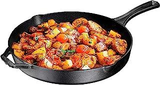 预处理铸铁长柄煎锅,30.48 厘米,Bruntmor 出品 - 可用于法国、西雅图、沙特、烘焙等 - 室内/室外使用