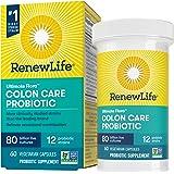Renew Life 成人益生元素食胶囊-Ultimate Flora Colon Care益生元补充剂-不含麸质,乳制…