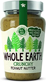Whole Earth Original Peanut Butter Crunchy 340 g (Pack of 6)