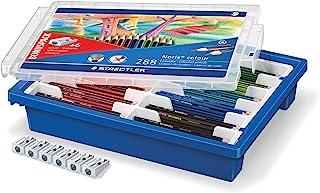 Staedtler 施德楼 185 G288 Noris Colour 塑料盒 带 288 支彩色铅笔和 6 支卷笔刀 12 种颜色