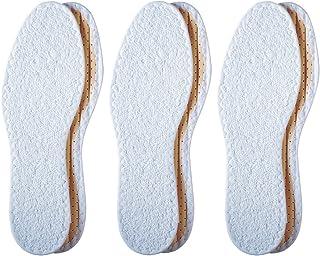 Pedag 196 可洗夏季纯棉厚绒赤脚鞋垫,白色 US L6/EU 36 3