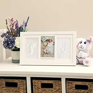 Nuby 婴儿纪念品经典白色木制三折框架套装