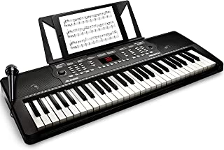Alesis 電子キーボード 54鍵盤【オンライン無料レッスン付属、内蔵スピーカー、マイク、譜面台、電源[付属ACアダプター又は電池駆動]、300音色/300内蔵リズム/40デモソング】Melody 54 需配变压器