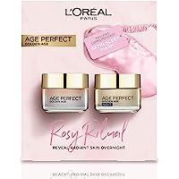 L'Oreal Paris 巴黎欧莱雅 完美年龄玫瑰日霜+晚霜+眼罩礼品套装
