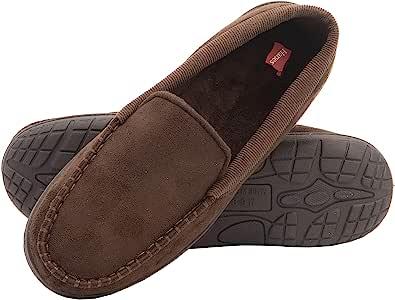 Hanes 男士莫卡辛拖鞋室内室外*泡沫鞋底清新智能气味保护