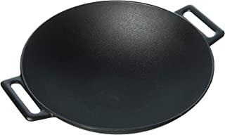 Jim Beam 30.48 厘米预调味重型铸铁烧烤锅,大号,黑色