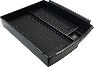 OzniumX 中控台收纳盒,适用于 Tesla Model S/X,黑色,定制*内饰配件,带硬币和太阳镜支架,扶手盒二层存储