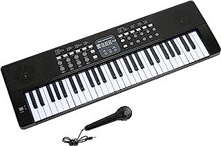 AXMAN T315853 电子琴 包括麦克风和电源接线 54 个按键 可用电池驱动 6xAA 电池(不包含在供货范围内)