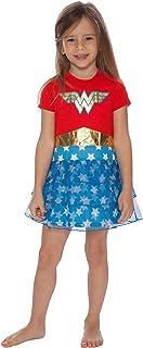 Wonder Woman Girls Gold Logo Nightgown for Little Girls