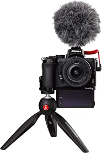 Nikon 尼康 Z50 Vlogger 无反相机套件(209 点混合 AF,高速图像处理,4K UHD 电影,高分辨率 LCD 显示器)VOA050K010