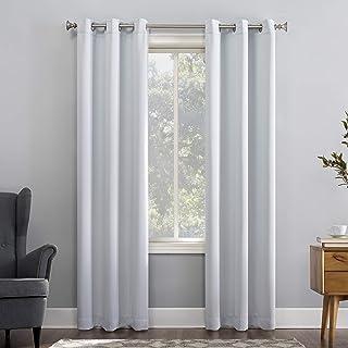 Sun Zero Easton 节能遮光窗帘板,101.60cm x 160.00cm,鸽子米白色
