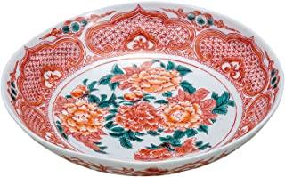伊野正峰 大碗 白色 22厘米 九谷烧 7号碗 红画 K5-292