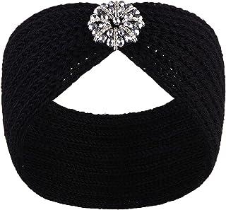 VIJIV 超寬針織頭巾頭箍圍巾女式女孩,時尚頭飾擋板帽頭套