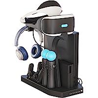 Skywin PSVR 充电显示支架 - 陈列柜、冷却、充电和显示您的 PS4 VR - Playstation 4 立…