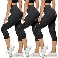 FVLT 黑色高腰七分裤打底裤 – 收腹瑜伽裤