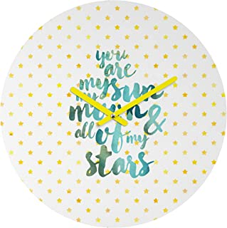 Deny Designs Hello Sayang 圆形时钟 You Are My Sun My Moon and All of My Stars