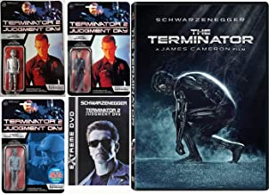 T-1000 Might Have Whthing For Arnold:终结者 1 + 2:判断日 + Funko Re-Action T-1000 公仔 3 只装(T-1000 官/T-1000 官员 *银 Chase */ T-1000 ...