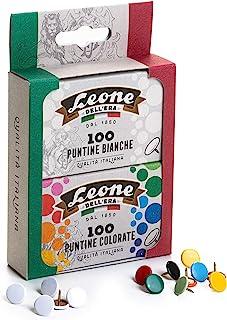 100 个白色绘图装饰 + 100 个彩色绘图设计 狮子 Dell'Era – 纸板制包装,2 个盒子