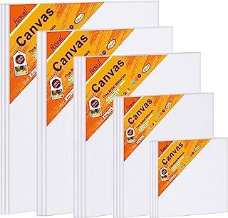 Fixmal 帆布面板 - 绘画帆布多包,* 棉,4x4,5x7,8x10,9x12,11x14,18 件装