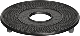 Iwachu 岩铸 锅垫 圆形 大号 黑色 13.5厘米 南部铁器 17002