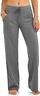 Athletic Works 女式宽松版 Dri-More 核心棉混纺瑜伽裤常规款和娇小款可选