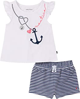 Nautica 套装 (KHQ) 女婴 2 件短裤套装