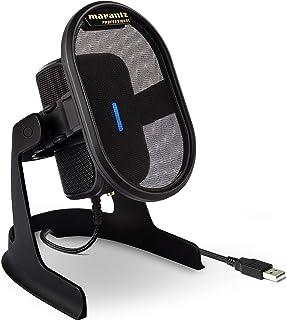 Marantz Professional Umpire - 无驱动程序桌面 USB 2.0 电容麦克风,集成的 Pop 过滤器和 Shockmount 适用于工作室级捕获、广播、流媒体、 Twitch、Skype 和会议等场合