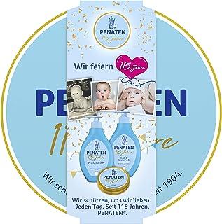 Penaten 儿童护肤礼品装 115周年版,含体乳,沐浴露,洗发水和护肤霜,1 x 3个礼品盒