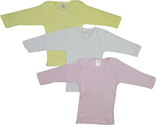 GI District 中性款婴儿短袖和长袖 T 恤,* 纯棉罗纹针织 3 件装或 6 件装