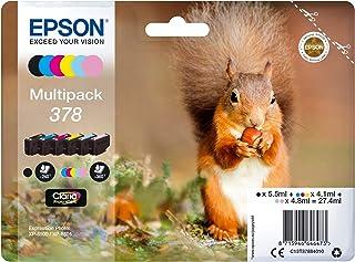 EPSON 爱普生 Original 378 松鼠墨盒(XP-8500 XP-8600 XP-8605,Amazon Dash补货功能,多件装,6色)