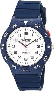 Armitron Sport 女式易读表盘硅胶表带手表,25/6443NVY