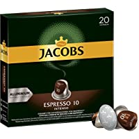 Jacobs Espresso咖啡胶囊 强度10/12 200 Nespresso 兼容胶囊,10 x 20杯
