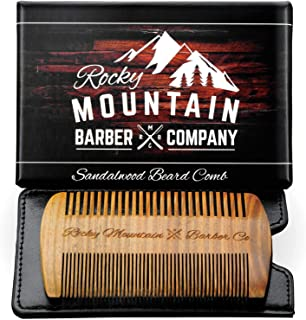 Beard Comb - 天然檀香发香味,防静电 - 手工制作优质牙刷,非常适合装在礼品盒中的胡须小胡子