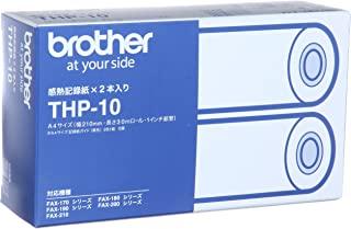 Brother工业 感热传真感热记录纸 30m 2卷/箱 THP-10