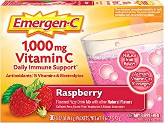 Emergen-C 维生素 C 活力混合饮料,1000 毫克,紫红色,0.3 盎司包,30 包 30 PKT