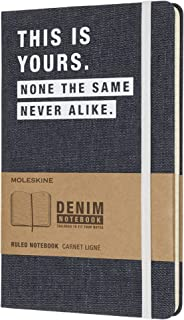 Moleskine 牛仔布《这是你的》大型横线笔记本