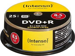 Intenso 4311144 DVD+R 8x 双层 25 件装蛋糕盒