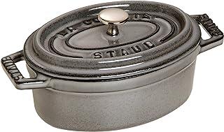 Zwilling 双立人 STAUB 珐宝 铸铁椭圆形迷你砂锅,石墨灰色,11厘米