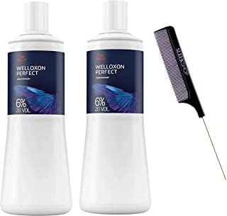 Wella Professional Koleston Perfect Me Welloxon 显影剂 20 卷(6%) 33.8 盎司(2 瓶装)