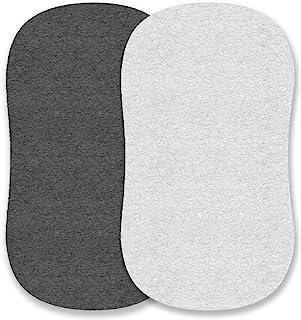 可爱小熊摇篮床单套装易于穿戴,可穿在手臂上,多用途、Chicco Lullago、光环摇篮床和许多其他椭圆形、矩形摇篮垫 | * 针织棉 | 麻灰色