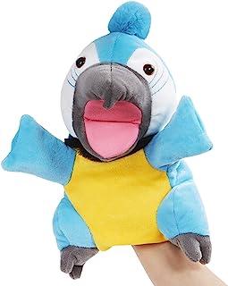 CozyWorld 鹦鹉木偶柔软手偶 毛绒玩具秀 为成人和儿童开发*礼物,蓝色,10 英寸(约 25.4 厘米)