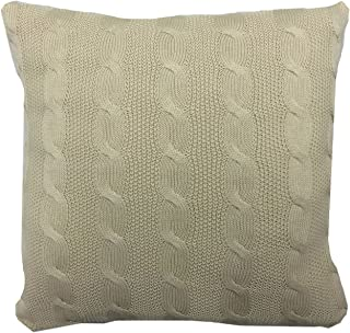 Highams 针织靠垫套,* 棉,天然貂皮,43 x 43 厘米